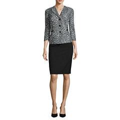 R&K Originals® 3/4-Sleeve Leopard-Print Jacket & Skirt Suit Set
