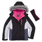 Xersion Girls Heavyweight 3-In-1 System Jacket-Big Kid
