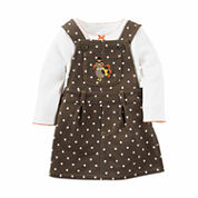 Carter's® Brown Dot 2-pc. Turkey Top & Jumper Set - Baby Girls newborn-24m