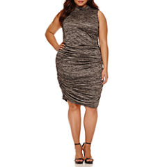 Boutique+ Sleeveless Ruched Dress - Plus