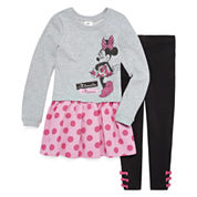 Disney Girls Short Sleeve Skirt Set