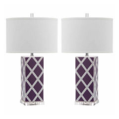 Ira Garden Lattice Table Lamp- Set of 2
