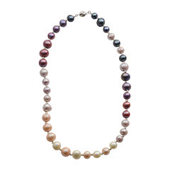 Cultured Freshwater Purple & Pink Pearl Sterling Silver Ombré Necklace