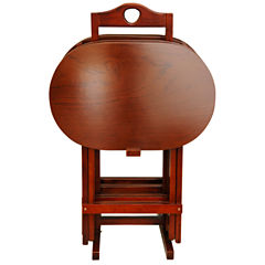 Oriental Furniture Rosewood 4-pc. TV Tray Table