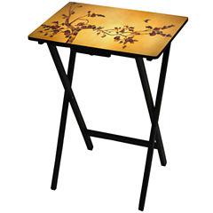 Oriental Furniture Plum Blossum TV Tray Table