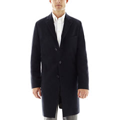 Stafford® Navy Herringbone Topcoat