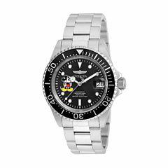 Invicta Mens Silver Tone Bracelet Watch-22777