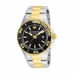 Techno Marine Mens Two Tone Bracelet Watch-Tm-215058