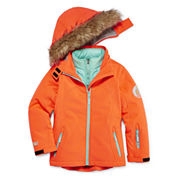 Vertical 9 Girls Heavyweight Softshell Jacket-Big Kid