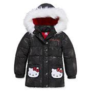 Hello Kitty Girls Hello Kitty Heavyweight Puffer Jacket-Preschool