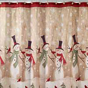 Avanti Tall Snowman Shower Curtain