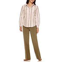 Alfred Dunner® Cactus Ranch Long Sleeve Stripe Shirt And Pant