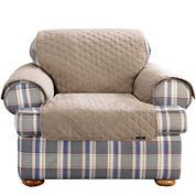 SURE FIT® Cotton Duck Chair Pet Furniture Cover