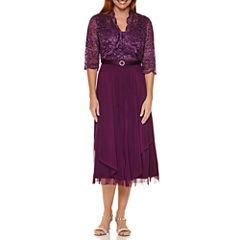 R & M Richards Lace Bolero Jacket Dress