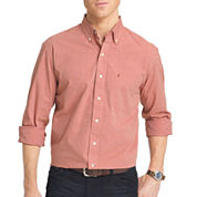 IZOD® Long-Sleeve Essential End On End Woven Cotton Poplin Shirt