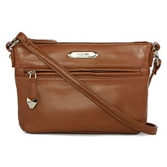 Perlina Nappa Mid-Size Leather Crossbody Bag