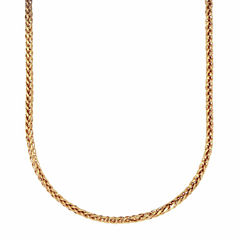 18K Yellow Gold Wheat Chain Necklace