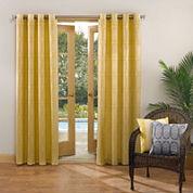 Sun Zero™ Tortola Indoor/Outdoor Woven Mosaic Grommet-Top Curtain Panel
