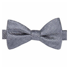 Stafford® Shreveport Non-Solid Geo Pre-Tied Bow Tie