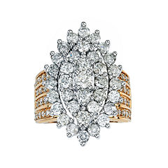 4 CT. T.W. Diamond 14K Yellow Gold Marquise-Shaped Ring