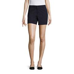 Liz Claiborne Twill Chino Shorts