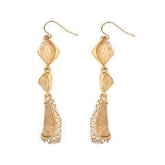 10021   Kara Ross Crystal Fragment Linear Earrings