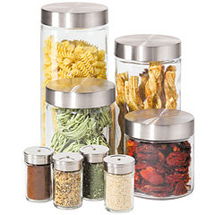 OGGI™ 8-pc. Glass Canister and Spice Jar Set