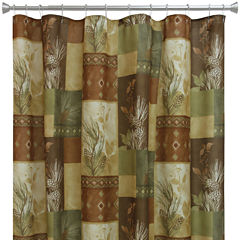 Bacova Pinecone Silhouette Shower Curtain