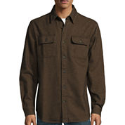 St. John's Bay® Long-Sleeve Brawny Flannel Shirt