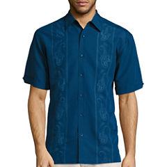 Havanera Print/Emroidered Combo Shirt