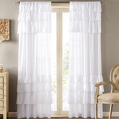 Madison Park Joycelyn Rod-Pocket Cotton Curtain Panel