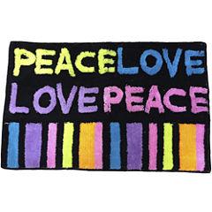 Peace & Love Bath Rug
