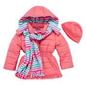 Pink Platinum Girls Heavyweight Puffer Jacket-Toddler