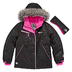 Zero Xposure Girls Heavyweight Ski Jacket-Big Kid