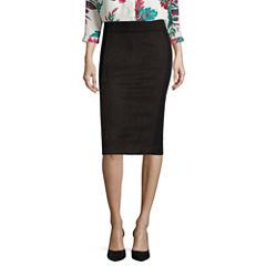Liz Claiborne® Faux-Suede Pencil Skirt