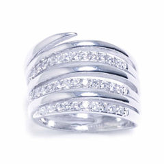 Sparkle Allure Womens Silver Over Brass