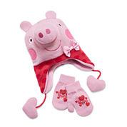Girls Peppa Pig Cold Weather Set-Preschool