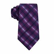 Van Heusen Chrome Grid Slim Tie