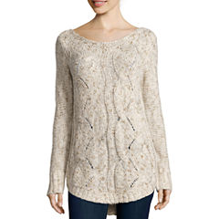 St. John's Bay® Cozy Cable Sweater