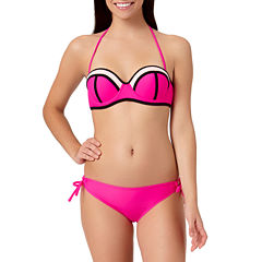 Arizona Mesh Colorblock Bandeau Swim Top or Keyhole Side-Tie Hipster Bottoms