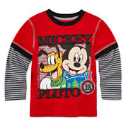 Okie Dokie Mickey Christmas T-Shirt - Toddler 2T-5T