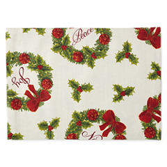Arlee Holiday Wreath 4-pc. Placemat