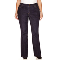 St. John's Bay Straight Fit Bootcut Jeans-Plus (31