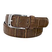 Stacy Adams® Croc-Embossed Leather Belt