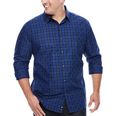 Claiborne® Long-Sleeve Woven Cotton Shirt - Big & Tall