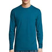 Stafford® Long-Sleeve Crewneck T-Shirt