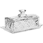 Dublin by Godinger Crystal Covered Butter Dish