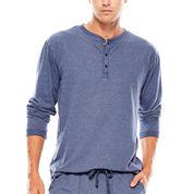 IZOD® Sueded Jersey Henley Sleep Shirt  - Big & Tall