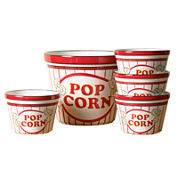 Tabletops Unlimited® 5-pc. Popcorn Serving Stoneware Bowl Set