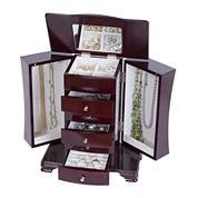 Mele & Co. Cherry-Finish Jewelry Box